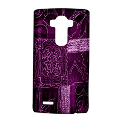 Purple Background Patchwork Flowers Lg G4 Hardshell Case