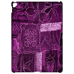 Purple Background Patchwork Flowers Apple Ipad Pro 12 9   Hardshell Case