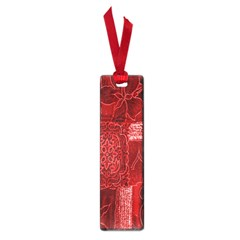Red Background Patchwork Flowers Small Book Marks