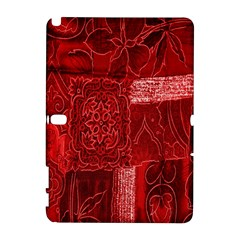 Red Background Patchwork Flowers Galaxy Note 1