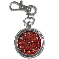 Rust Red Zig Zag Pattern Key Chain Watches by BangZart