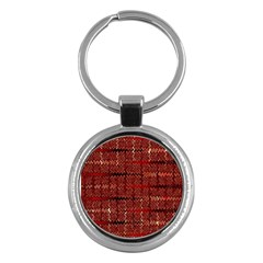 Rust Red Zig Zag Pattern Key Chains (round)  by BangZart