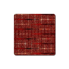 Rust Red Zig Zag Pattern Square Magnet by BangZart