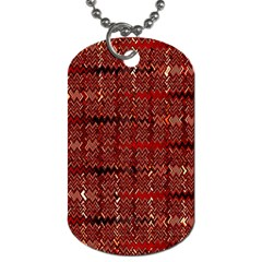 Rust Red Zig Zag Pattern Dog Tag (two Sides) by BangZart