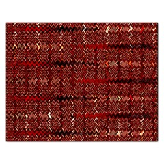 Rust Red Zig Zag Pattern Rectangular Jigsaw Puzzl by BangZart