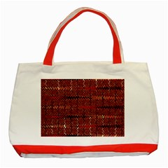 Rust Red Zig Zag Pattern Classic Tote Bag (red)