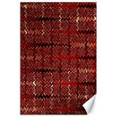 Rust Red Zig Zag Pattern Canvas 20  X 30   by BangZart