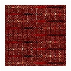 Rust Red Zig Zag Pattern Medium Glasses Cloth (2 Side)