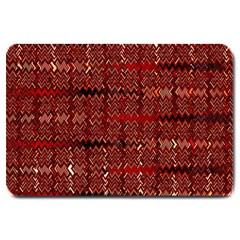 Rust Red Zig Zag Pattern Large Doormat