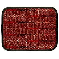 Rust Red Zig Zag Pattern Netbook Case (large) by BangZart