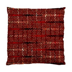 Rust Red Zig Zag Pattern Standard Cushion Case (two Sides)