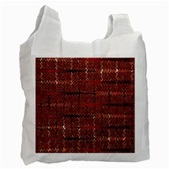 Rust Red Zig Zag Pattern Recycle Bag (two Side)  by BangZart