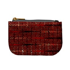 Rust Red Zig Zag Pattern Mini Coin Purses by BangZart
