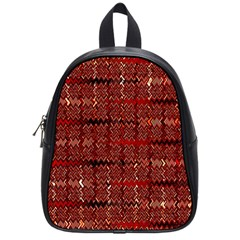 Rust Red Zig Zag Pattern School Bags (small)