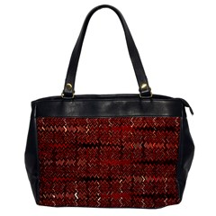 Rust Red Zig Zag Pattern Office Handbags by BangZart