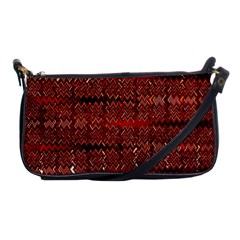 Rust Red Zig Zag Pattern Shoulder Clutch Bags by BangZart