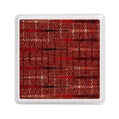 Rust Red Zig Zag Pattern Memory Card Reader (square)