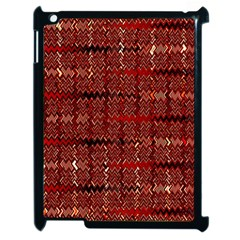 Rust Red Zig Zag Pattern Apple Ipad 2 Case (black) by BangZart