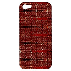 Rust Red Zig Zag Pattern Apple Iphone 5 Hardshell Case by BangZart