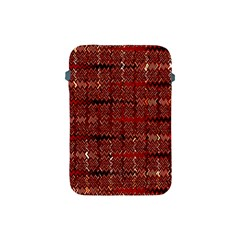 Rust Red Zig Zag Pattern Apple Ipad Mini Protective Soft Cases by BangZart