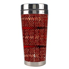 Rust Red Zig Zag Pattern Stainless Steel Travel Tumblers