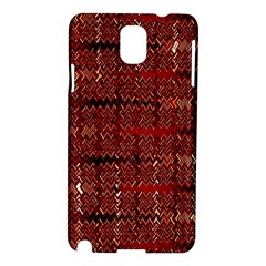 Rust Red Zig Zag Pattern Samsung Galaxy Note 3 N9005 Hardshell Case
