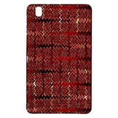 Rust Red Zig Zag Pattern Samsung Galaxy Tab Pro 8 4 Hardshell Case by BangZart