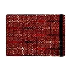 Rust Red Zig Zag Pattern Ipad Mini 2 Flip Cases by BangZart