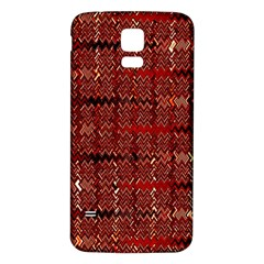 Rust Red Zig Zag Pattern Samsung Galaxy S5 Back Case (white)