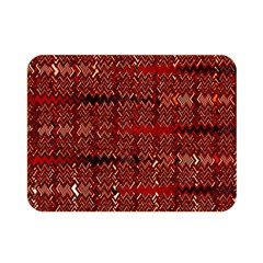 Rust Red Zig Zag Pattern Double Sided Flano Blanket (mini)