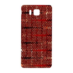 Rust Red Zig Zag Pattern Samsung Galaxy Alpha Hardshell Back Case