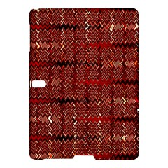 Rust Red Zig Zag Pattern Samsung Galaxy Tab S (10 5 ) Hardshell Case  by BangZart