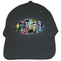 Vintage Horror Collage Pattern Black Cap by BangZart