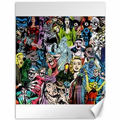 Vintage Horror Collage Pattern Canvas 12  X 16   by BangZart