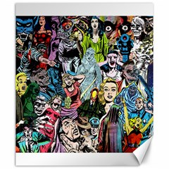 Vintage Horror Collage Pattern Canvas 20  X 24   by BangZart