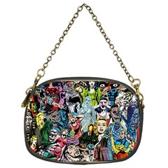 Vintage Horror Collage Pattern Chain Purses (one Side)