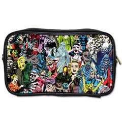Vintage Horror Collage Pattern Toiletries Bags