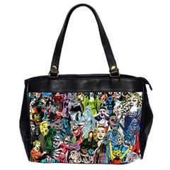 Vintage Horror Collage Pattern Office Handbags (2 Sides)  by BangZart