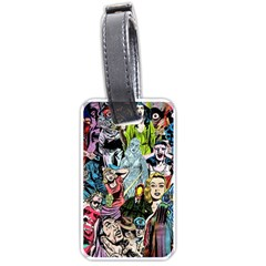 Vintage Horror Collage Pattern Luggage Tags (one Side)  by BangZart