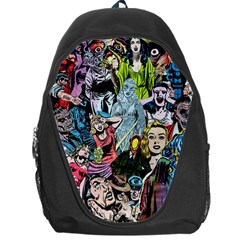 Vintage Horror Collage Pattern Backpack Bag by BangZart