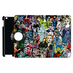 Vintage Horror Collage Pattern Apple Ipad 3/4 Flip 360 Case by BangZart