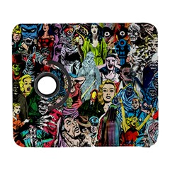 Vintage Horror Collage Pattern Galaxy S3 (flip/folio)