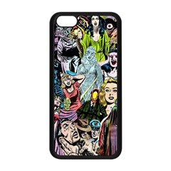 Vintage Horror Collage Pattern Apple Iphone 5c Seamless Case (black) by BangZart