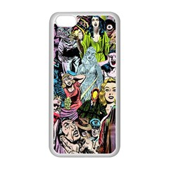 Vintage Horror Collage Pattern Apple Iphone 5c Seamless Case (white) by BangZart