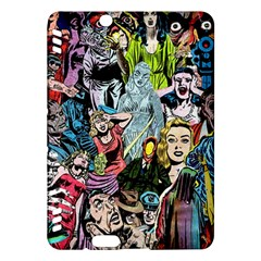 Vintage Horror Collage Pattern Kindle Fire Hdx Hardshell Case by BangZart