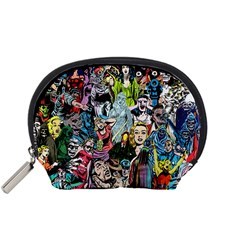 Vintage Horror Collage Pattern Accessory Pouches (small)