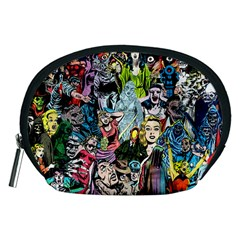 Vintage Horror Collage Pattern Accessory Pouches (medium)  by BangZart