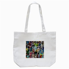 Vintage Horror Collage Pattern Tote Bag (white) by BangZart