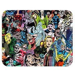 Vintage Horror Collage Pattern Double Sided Flano Blanket (medium)  by BangZart