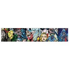 Vintage Horror Collage Pattern Flano Scarf (small) by BangZart